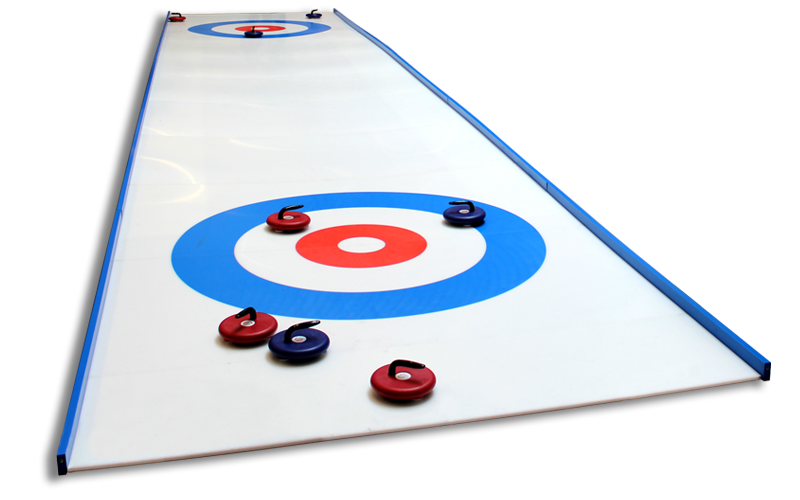 pro rink curling on synthetic ice