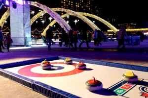 synthetic ice events portable curling rinks