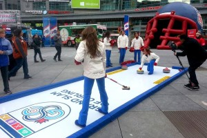 outdoor curling iceless