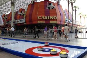 portable curling event