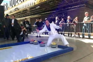 synthetic ice curling event