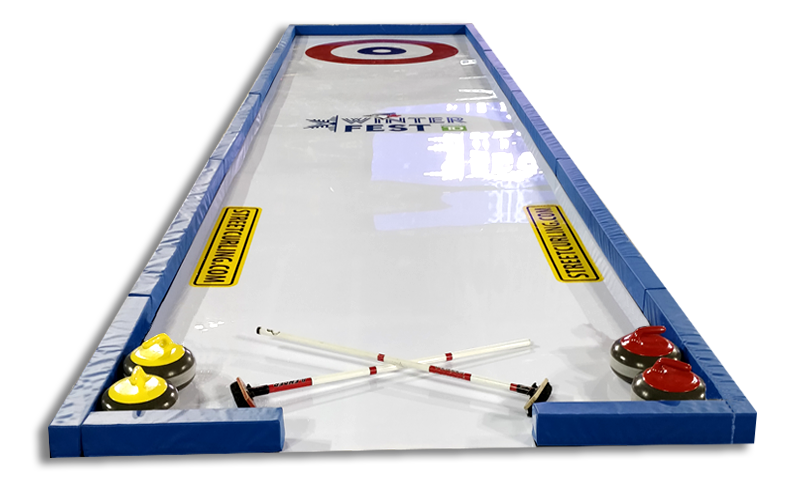 classic rink curling on synthetic ice