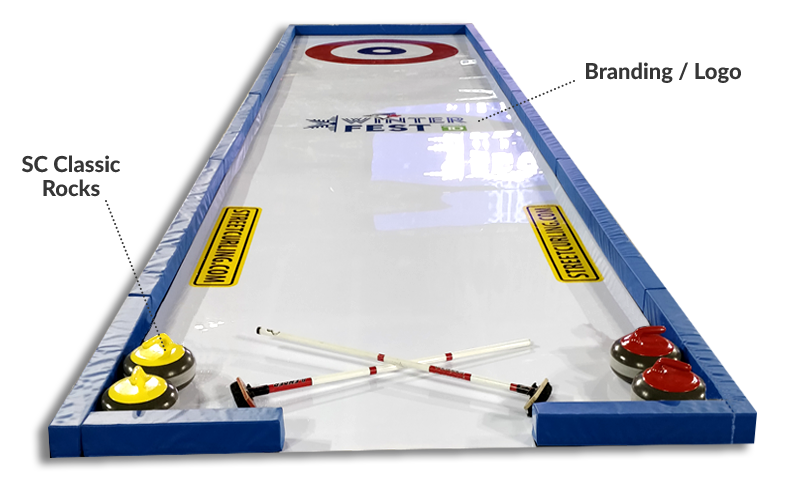 portable synthetic ice curling rink