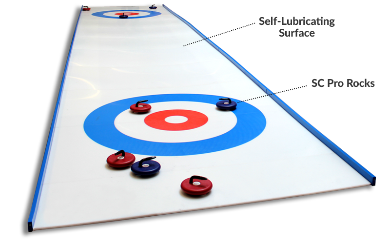 synthetic ice curling rink