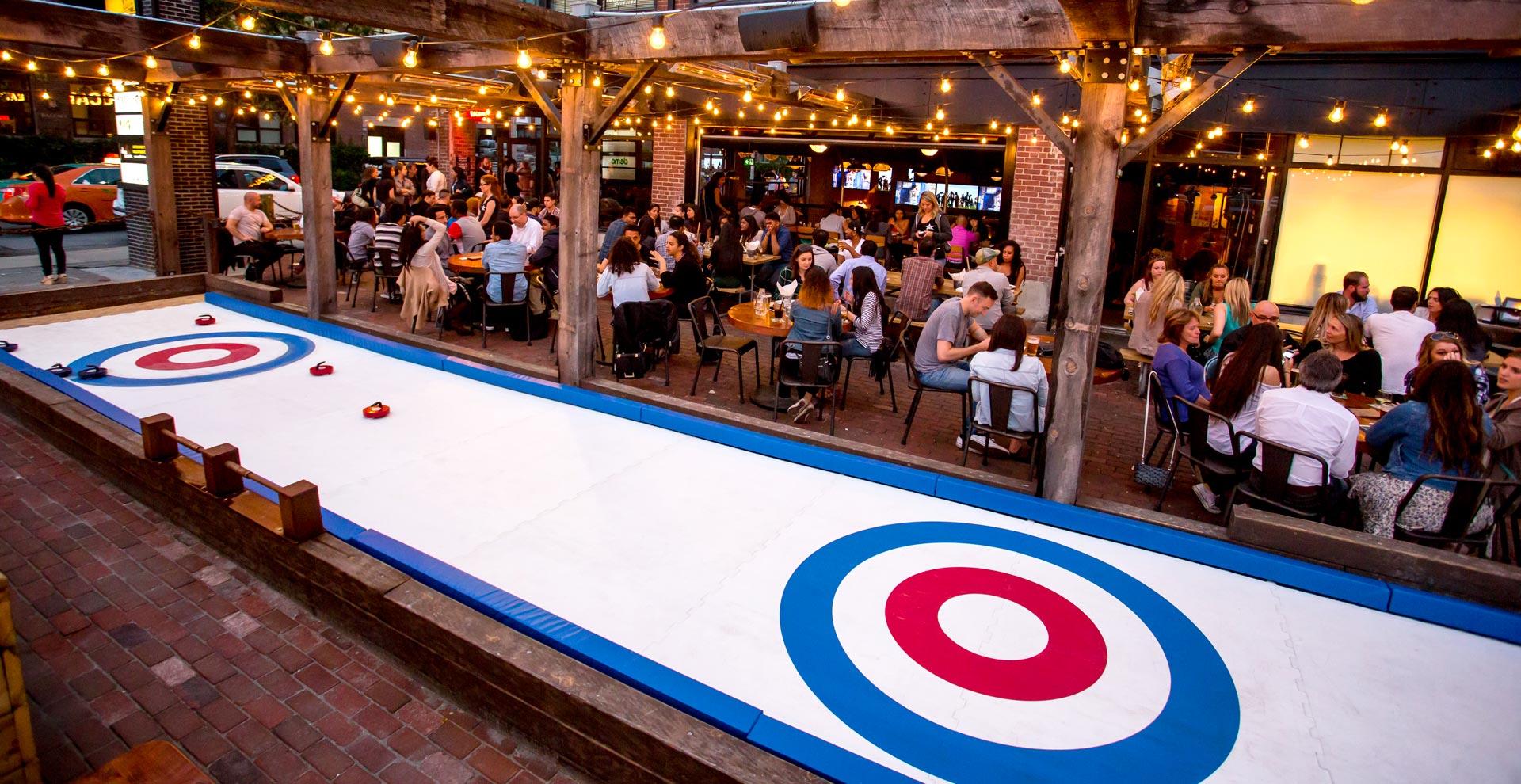 sports bar curling rink