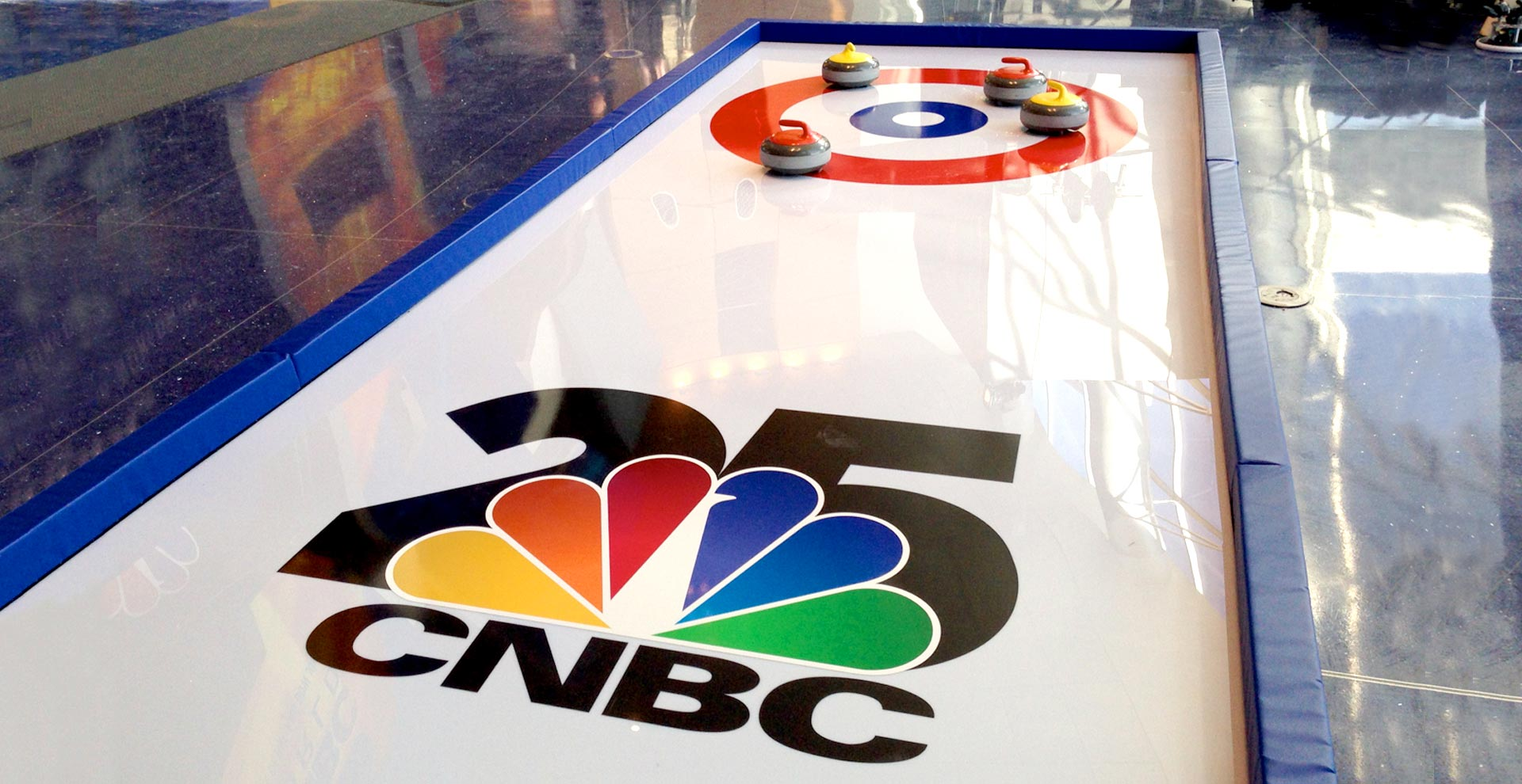 CNBC curling rink