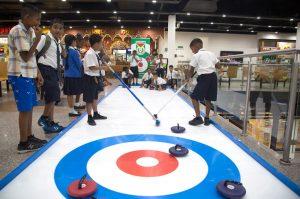 indoor curling attraction