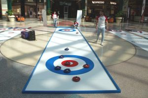 portable curling rinks indoors