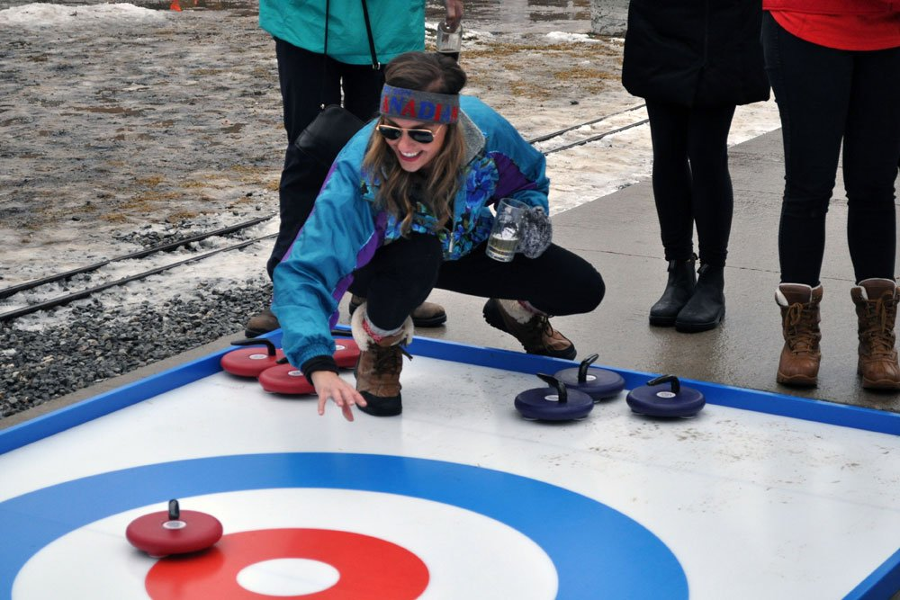 Outdoor Winter Attraction - Street Curling