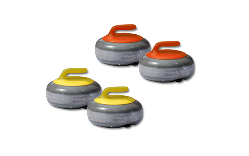 synthetic curling stones